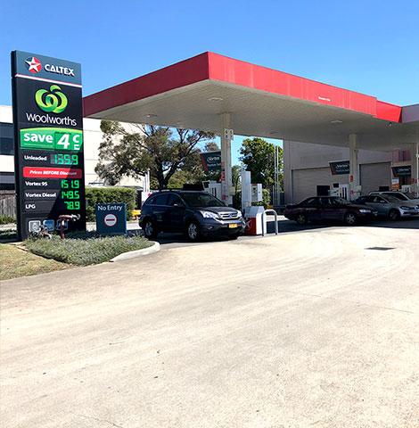 concrete slab for petrol station