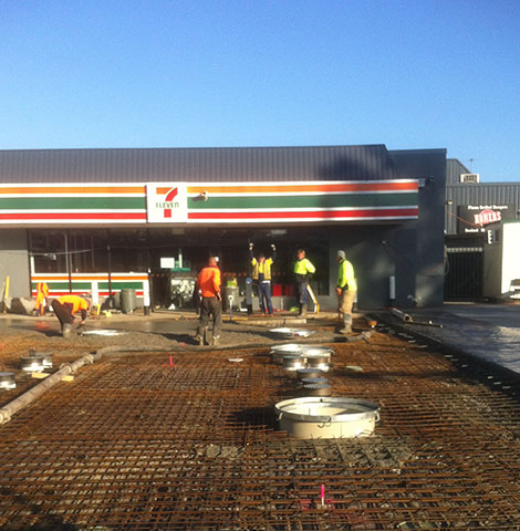 composite concrete slab for 7 eleven