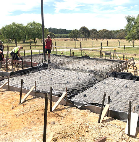 waffle pod concrete slab mornington peninsula